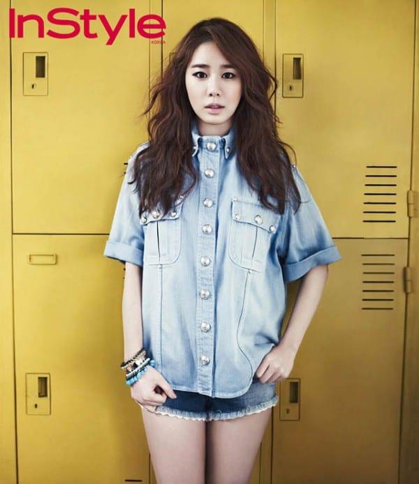Magazine] Ю Ин На в джинсовых нарядах для «InStyle Korea». - K-
