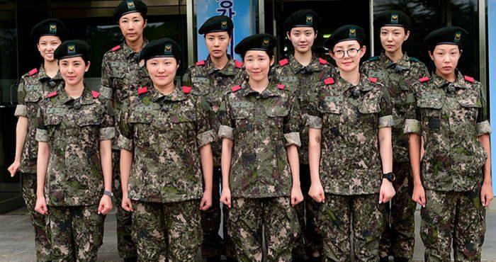 Real men in uniform