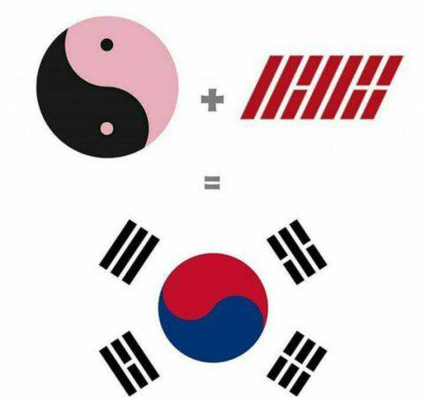 Black-Pink-iKON-logos